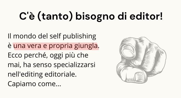 Perché c'è tanto bisogno di Editor in questo momento?