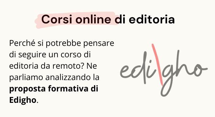 Proposta formativa Edigho: Corso di editoria online