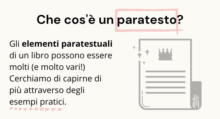 Significato ed esempi pratici del paratesto.