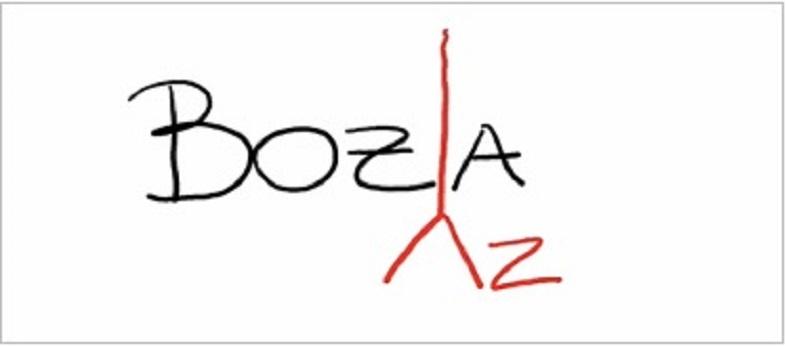 Il simbolo per aggiungere una lettera
