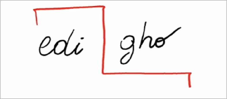 Il simbolo per invertire l'ordine di una frase o delle lettere di una parola
